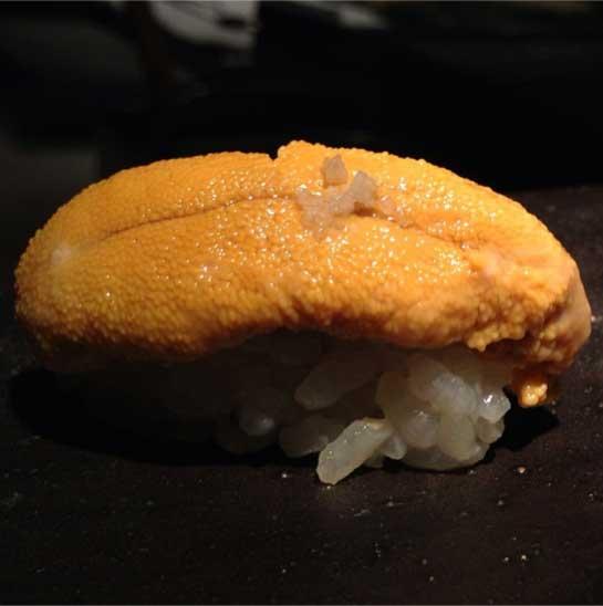 Sushi de uni (ouriço) no Jun: imbatível