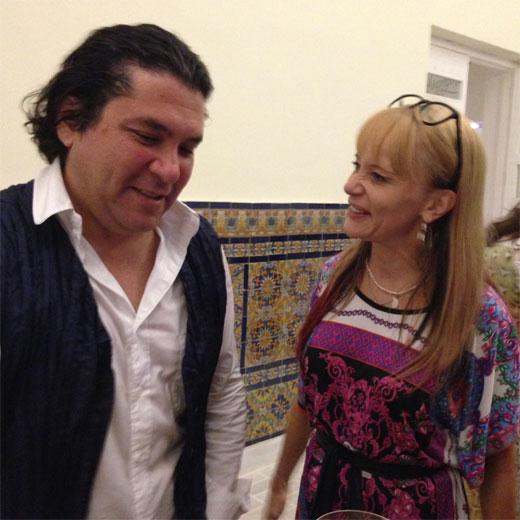 Chef Gastón Acurio com sua mulher Astrid Gutsche na inauguração da Casa Moreyra em Lima